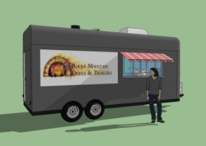 Enclosed Pizza Trailer - Service view