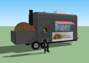 Open Oven Pizza Trailer - Service view