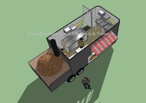 Open Oven Pizza Trailer - Top & service view - web site